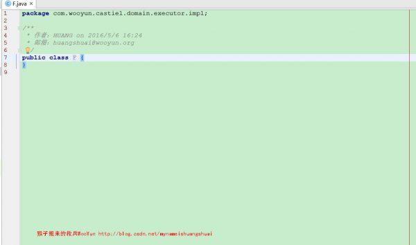 5.新建一个Java类,我们就可以看到自己设置的注释模板了