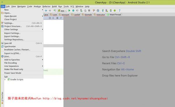 选择 File –> Other Settings –> Default Project Structure