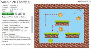 [unity] [特效] Unity2D Simple 2D Enemy KI 源码下载